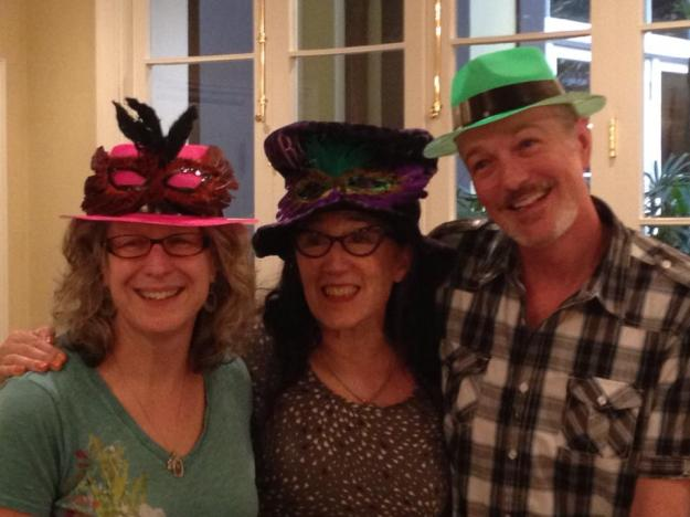 Fellow artist Mary Zeran, our leader Patti Brady and myself – its New Orleans you have to look the part