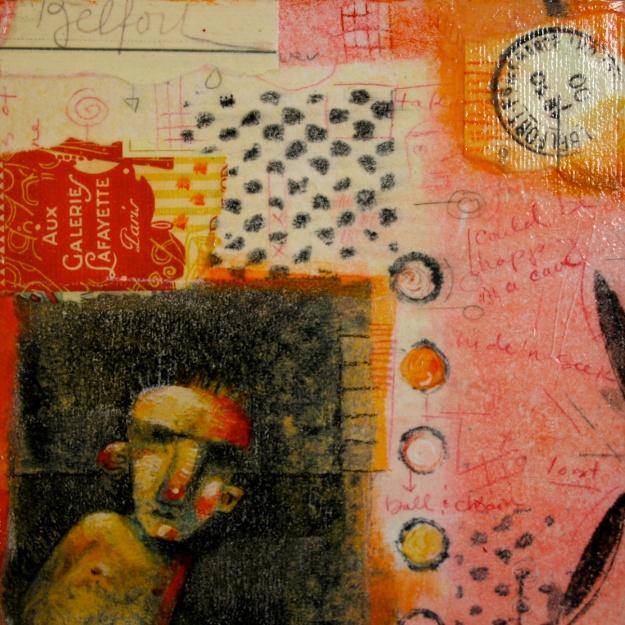 Curmudgeon, Mixed media on wood. Brenda York, 2010.