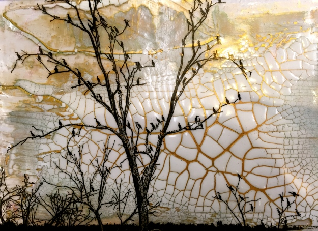 Student artwork: Ronna S. Digital print on a acrylic gel skin.